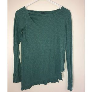 Anthropologie Left Of Center Long Sleeve Top XS